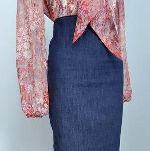 Diesel Style Lab Denim Skirt
